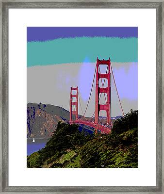 Golden Gate Bridge Framed Print by Charles Shoup