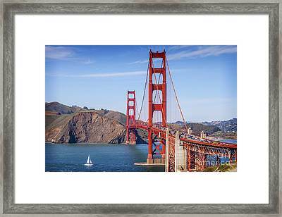 Golden Gate Bridge Framed Print by Colin and Linda McKie