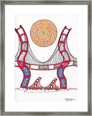Golden Gate Bridge Dancing In The Wind Framed Print by Michael Friend