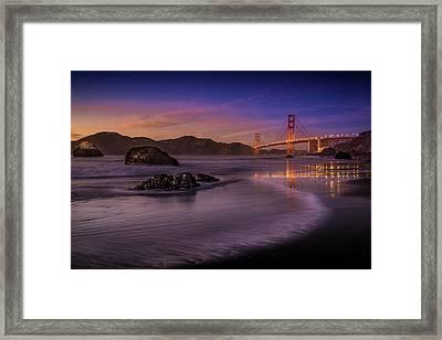Golden Gate Bridge Fading Daylight Framed Print