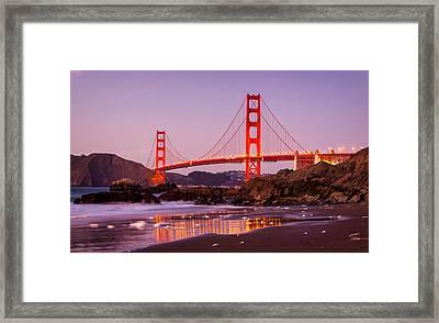 Golden Gate Bridge From Baker Beach Framed Print