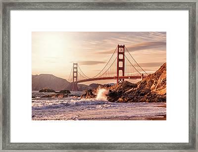 Golden Gate Bridge From Baker Beach Framed Print by Karsten May