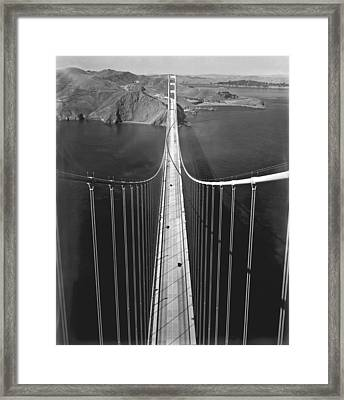 Golden Gate Bridge In 1937 Framed Print by Underwood Archives