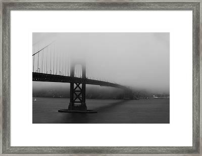 Framed Print featuring the photograph Golden Gate Bridge In Fog by Chuck Caramella