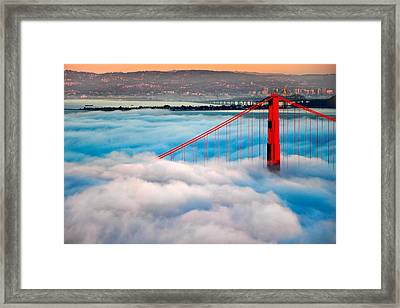 Golden Gate Bridge In Fog Framed Print