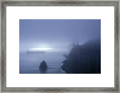 Golden Gate Bridge In Fog, San Framed Print