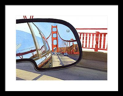 Northern California Paintings Framed Prints