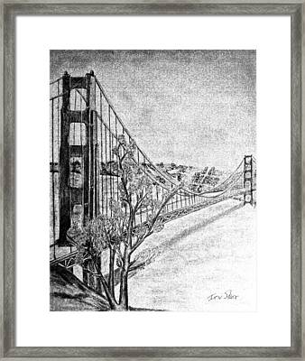 Golden Gate Bridge Framed Print by Irving Starr