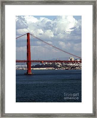 Golden Gate Bridge Framed Print by Kathleen Struckle