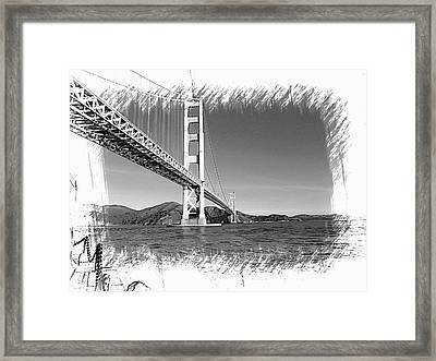 Golden Gate Bridge Framed Print by Kathy Churchman