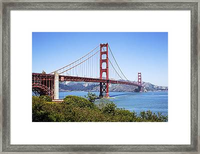 Golden Gate Bridge Framed Print by Kelley King