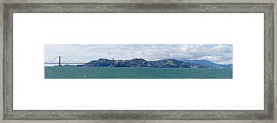 Golden Gate Bridge, Marin Headlands Framed Print by Panoramic Images