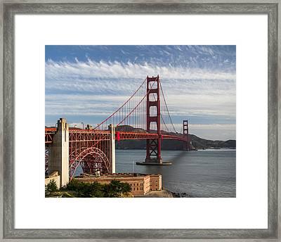 Golden Gate Bridge Morning Light Framed Print