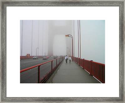 G. G. Bridge Walking Framed Print by Oleg Zavarzin