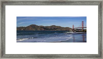 Golden Gate Bridge Panorama Framed Print by Brad Scott