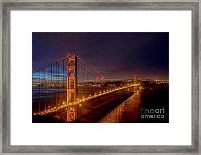 Golden Gate Bridge Framed Print by Peter Dang