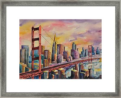 Golden Gate Bridge - San Francisco Framed Print by Joy Skinner