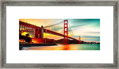 Golden Gate Sunset Framed Print by Az Jackson