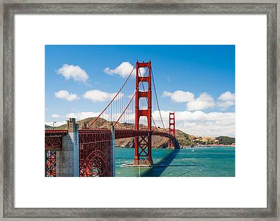 Golden Gate Bridge Framed Print by Sarit Sotangkur