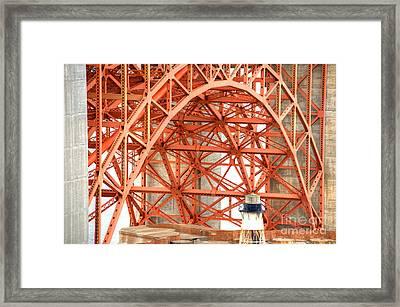 Golden Gate Bridge Supports Framed Print by Deborah Smolinske