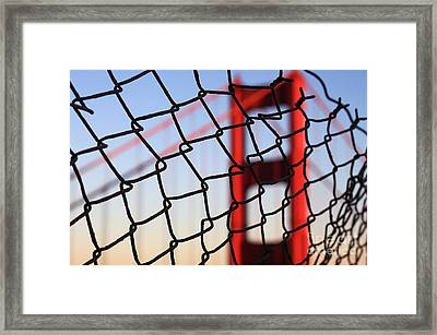 Golden Gate Bridge Through The Fence Framed Print by Theresa Ramos-DuVon