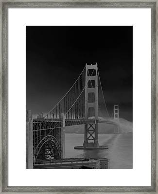 Golden Gate Bridge To Sausalito Framed Print by Connie Fox