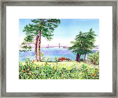 Golden Gate Bridge View From Lincoln Park San Francisco Framed Print