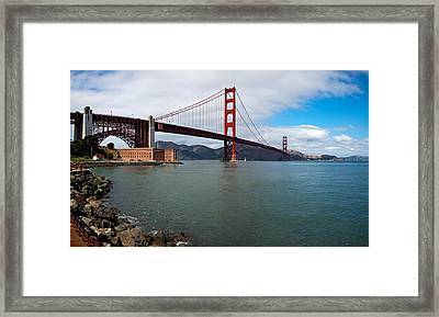 Golden Gate Bridge Viewed From Marine Framed Print by Panoramic Images