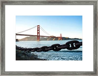 Golden Gate Bridge With Chain Framed Print