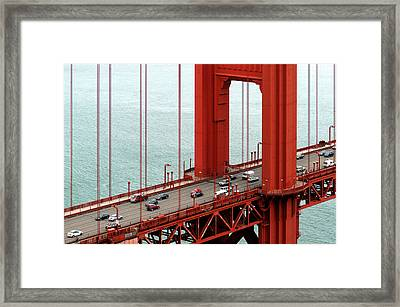 Framed Print featuring the photograph Golden Gate Bridge by Yue Wang