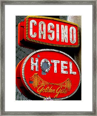 Golden Gate Casino Hotel Framed Print by Randall Weidner