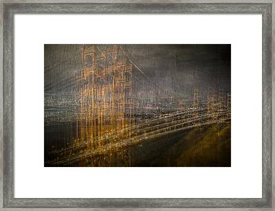 Golden Gate Chaos Framed Print