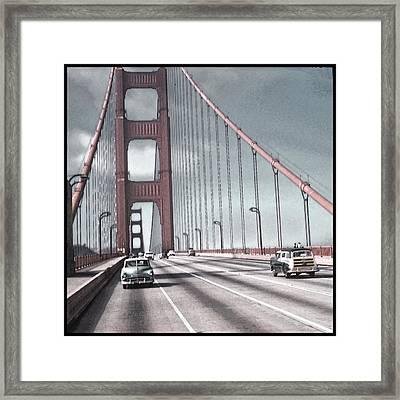 Golden Gate Crossing Framed Print by Eric  Bjerke Sr