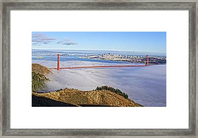Framed Print featuring the photograph Golden Gate by Dave Files