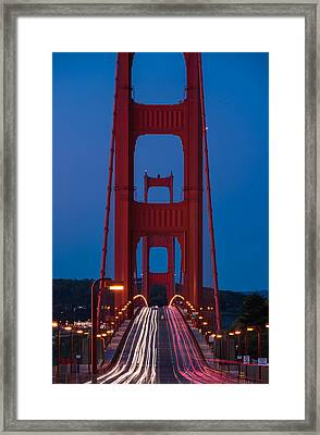 Golden Gate Dawn Framed Print by Steve Gadomski