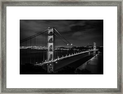 Golden Gate Evening- Mono Framed Print