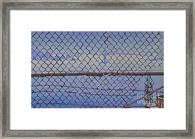 Golden Gate From Alcatraz Framed Print by Marco Ippaso