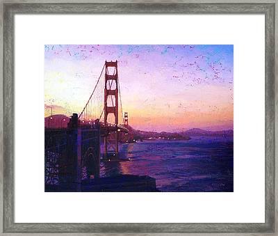 Golden Gate Framed Print by Gina Tecson