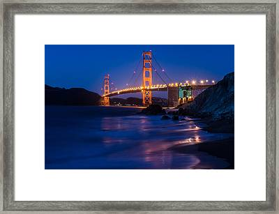 Golden Gate Glow Framed Print