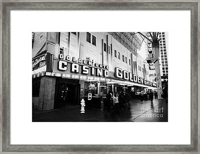 golden gate hotel and casino Las Vegas Nevada USA Framed Print