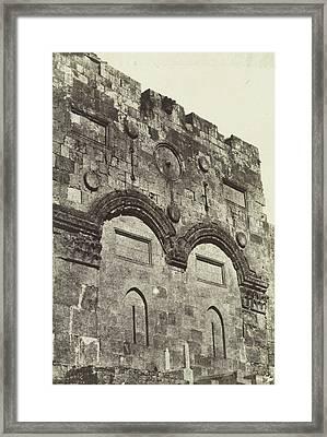Golden Gate In Jerusalem, Maxime Du Camp Framed Print by Artokoloro