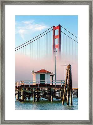 Golden Gate In The Fog II Framed Print