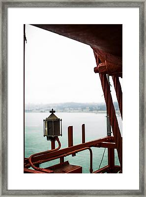 Golden Gate Lantern Framed Print by SFPhotoStore