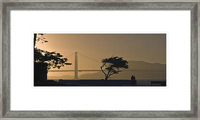 Golden Gate Lovers Framed Print