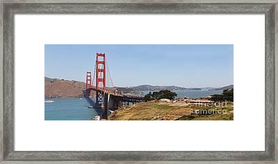 Golden Gate Panorama 7 Framed Print by Jack Schultz