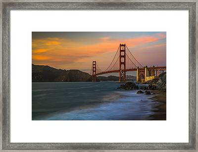 Golden Gate Framed Print by Peter Irwindale