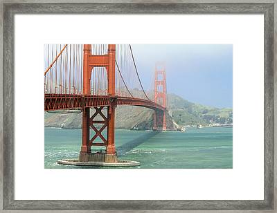 Framed Print featuring the photograph Golden Gate by Steven Bateson
