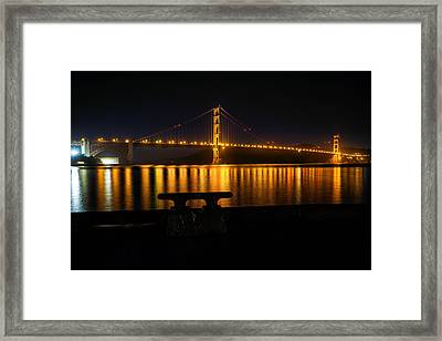 Framed Print featuring the photograph Golden Gate by Steven Reed