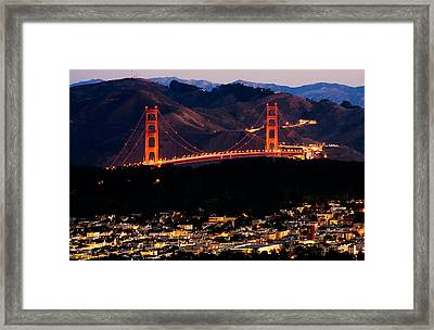 Golden Gate Sunrise Framed Print