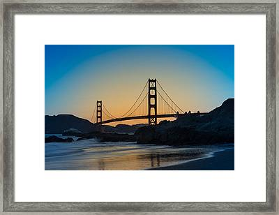 Golden Gate Sunrise Framed Print by Steve Gadomski